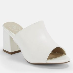 Missguided white mule US women's 6